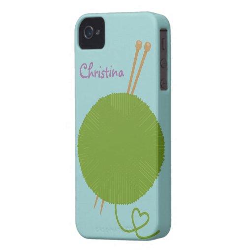 Love to Knit G4 Case-Mate Case Case-Mate iPhone 4 Case