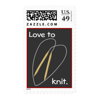 Love To Knit Postage