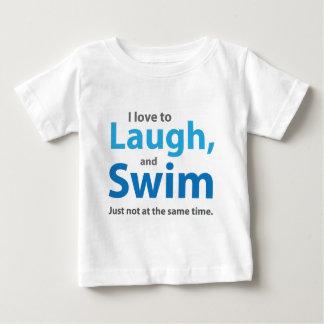 Love to Laugh and Swim Baby T-Shirt