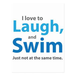 Love to Laugh and Swim Postcard