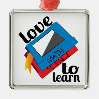 Love To Learn Metal Ornament