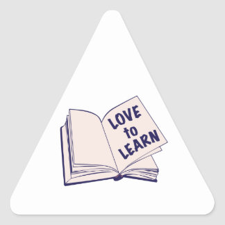 Love To Learn Triangle Sticker