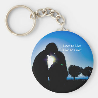 Love to LiveLive to... Basic Round Button Keychain