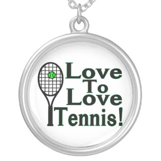 Love To Love Tennis Silver Plated Necklace