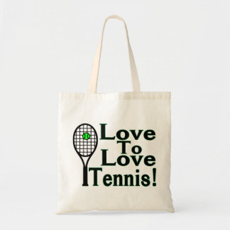 Love To Love Tennis Tote Bag