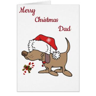 **LOVE TO MY FAVORITE DAD** AT CHRISTMAS CARD