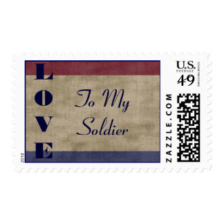 LOVE to My Soldier Military Family Postage Stamp