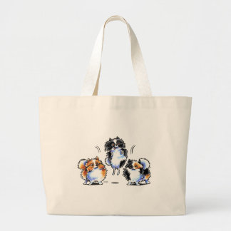 Love to Parti Pomeranians Tote Bags