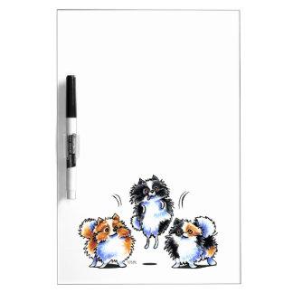Love to Parti Pomeranians Dry-Erase Boards