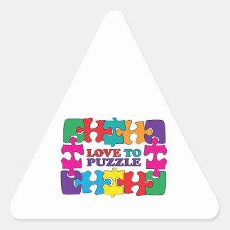 Love To Puzzle Triangle Sticker