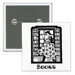 Love to Read Books Pinback Button