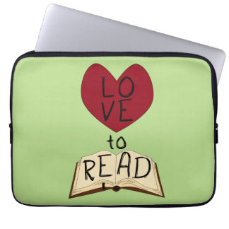 Love to Read - Change Color Laptop Computer Sleeves