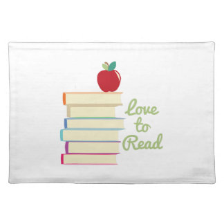 Love To Read Cloth Place Mat