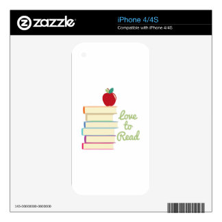 Love To Read iPhone 4S Skins