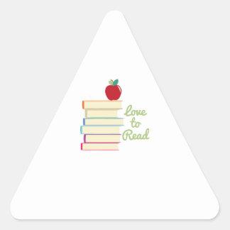Love To Read Triangle Sticker