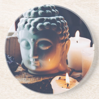 love to relax sandstone coaster
