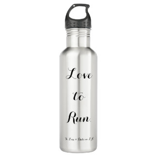 'Love to Run' 24oz Stainless Steel Water Bottle