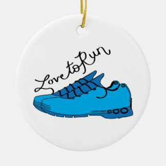 Love to Run Ceramic Ornament