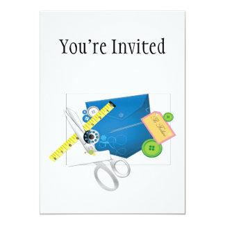 Love To Sew & Sew It Goes 5x7 Paper Invitation Card