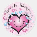 LOVE to Shampoo ©StyleStickers™ Classic Round Sticker