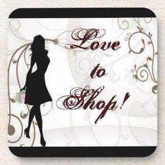 Love to Shop Cork Coaster