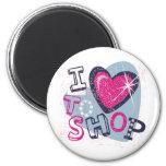 Love To Shop Kids 2 Inch Round Magnet
