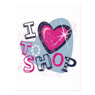 Love To Shop Kids Postcards