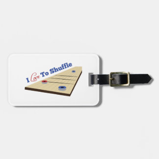 Love to Shuffle Luggage Tag