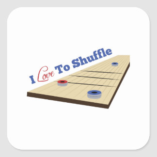 Love to Shuffle Square Sticker