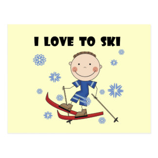 Love to Ski - Boy Tshirts and Gifts Postcard