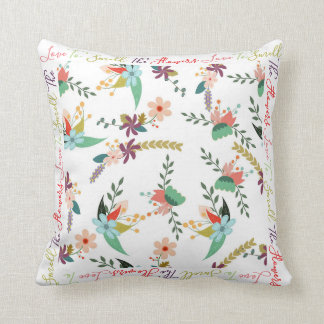 Love To Smell The Flowers | Floral print Throw Pillow