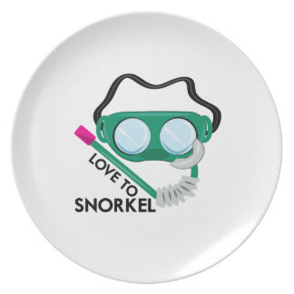 Love To Snorkel Dinner Plate
