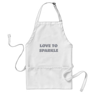 Love To Sparkle Adult Apron
