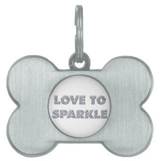 Love To Sparkle Pet ID Tag