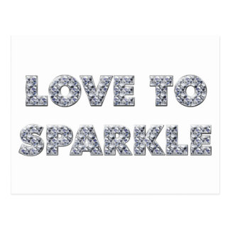 Love To Sparkle Postcard