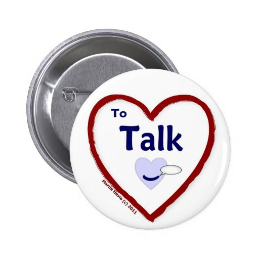 Love to Talk Pinback Buttons