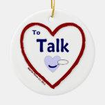 Love to Talk Christmas Tree Ornament