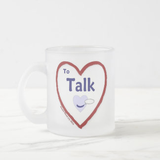 Love to Talk Frosted Glass Coffee Mug