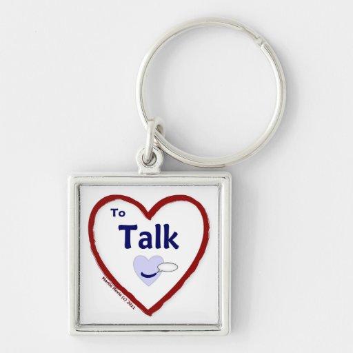 Love to Talk Keychain