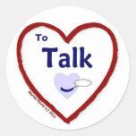 Love to Talk Round Sticker