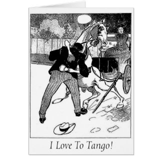 Love To Tango Greeting Card, with white envelopes Card