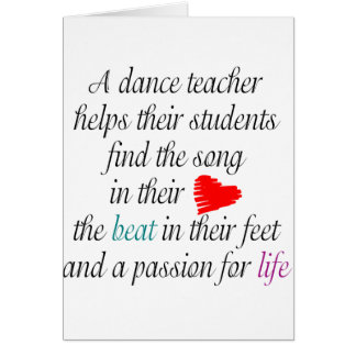 Love to Teach Dance Greeting Cards