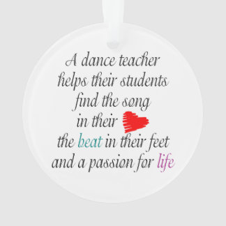 Love to Teach Dance Ornament
