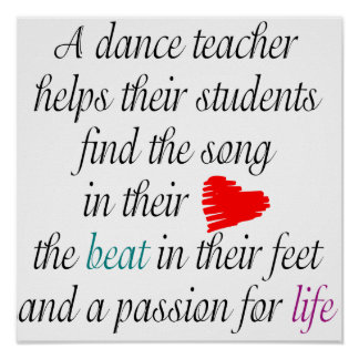 Love to Teach Dance Poster