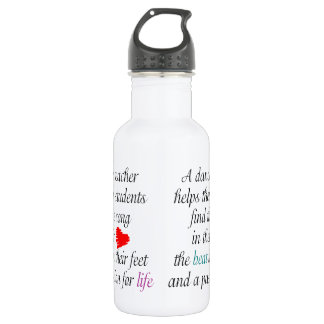 Love to Teach Dance Stainless Steel Water Bottle
