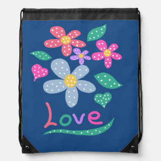 love to the flowers drawstring backpack
