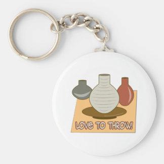 Love To Throw Keychain