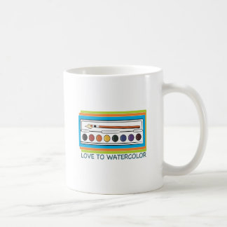 Love To Watercolor Classic White Coffee Mug