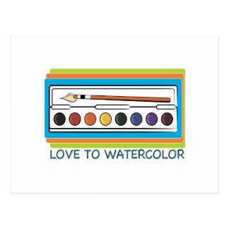 Love To Watercolor Postcard