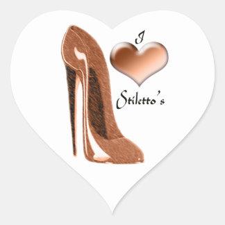Love Toffee Stiletto Shoe and 3D Heart Heart Sticker